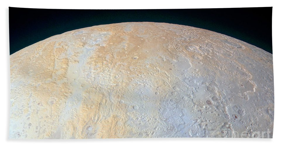 Science Beach Towel featuring the photograph Canyons Around Plutos North Pole by Science Source