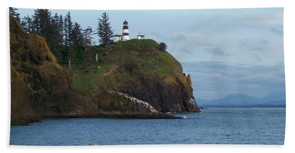 Lighthouse Beach Towel featuring the photograph Cape Disappointment by Charles Robinson