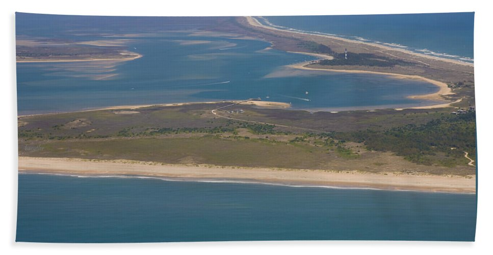 Harkers Island Beach Towel featuring the photograph Cape Lookout Lighthouse Distance by Betsy Knapp