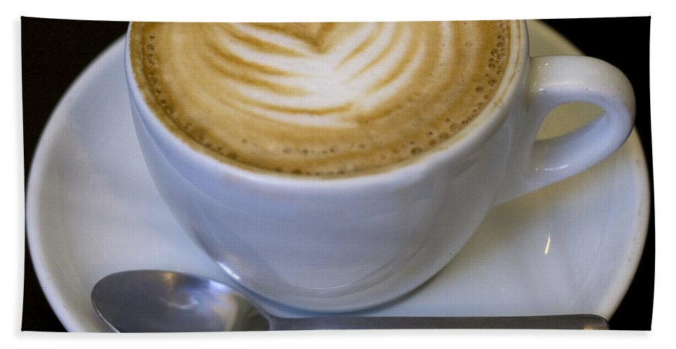 Coffee Beach Towel featuring the photograph Cappuccino by Tim Nyberg
