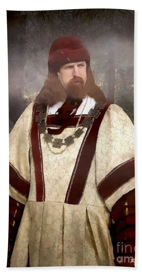 Autumn Beach Towel featuring the painting Captain Of The Guild Of St. Maurice by RC DeWinter