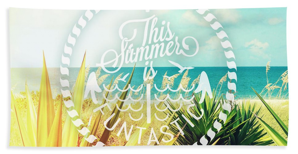 Quote Beach Towel featuring the photograph Captiva Island I by Chris Andruskiewicz