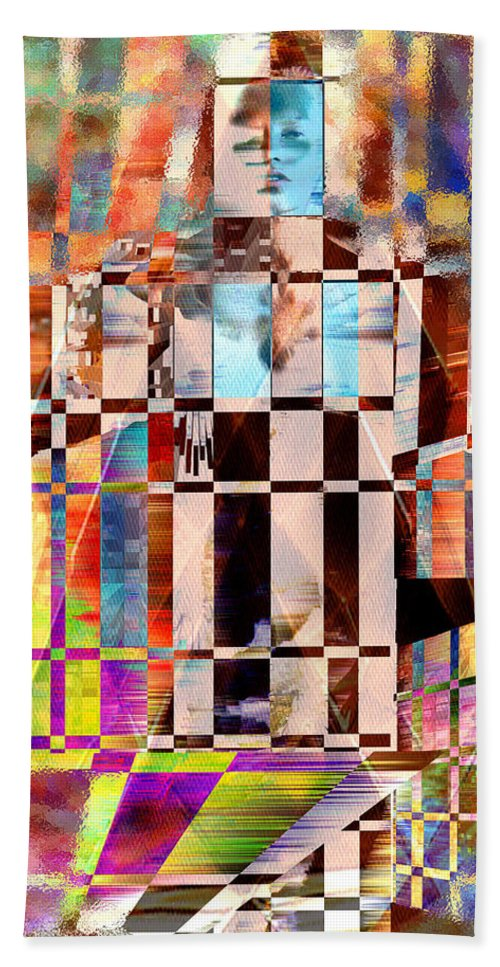 Abstract Beach Towel featuring the photograph Captivia by Seth Weaver
