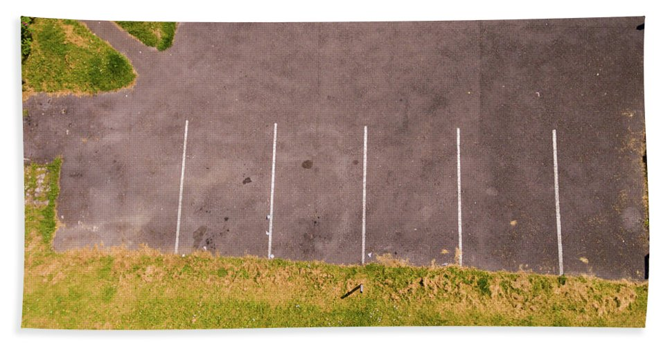 Abstract Beach Towel featuring the photograph Car Parking Bays by Kelly Jenkins
