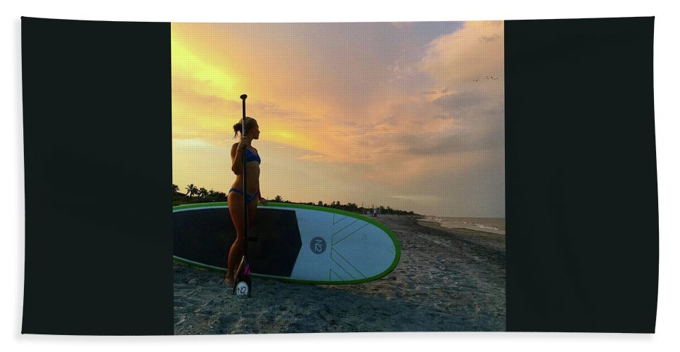 Beach Towel featuring the photograph Carbon Fiber Paddle Sup by North2 Boards