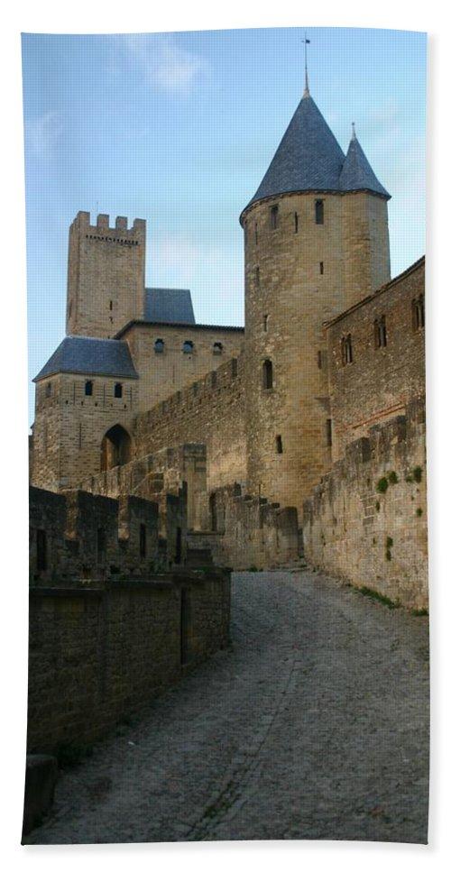 Castle Beach Towel featuring the photograph Carcassonne Castle by Minaz Jantz