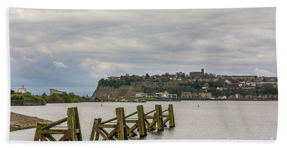 Cardiff Bay Beach Towel featuring the photograph Cardiff Bay Dolphins by Steve Purnell