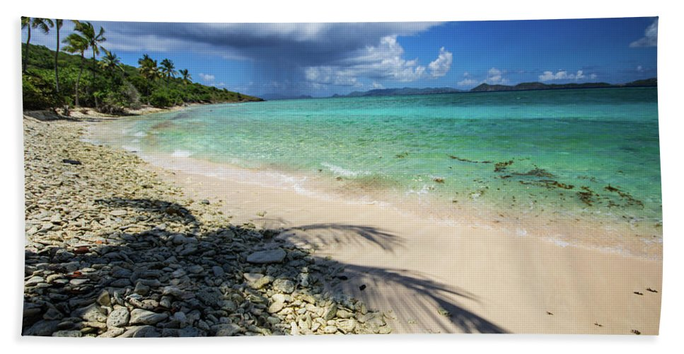 Landscape Beach Towel featuring the photograph Caribbean Afternoon by Rob Lantz