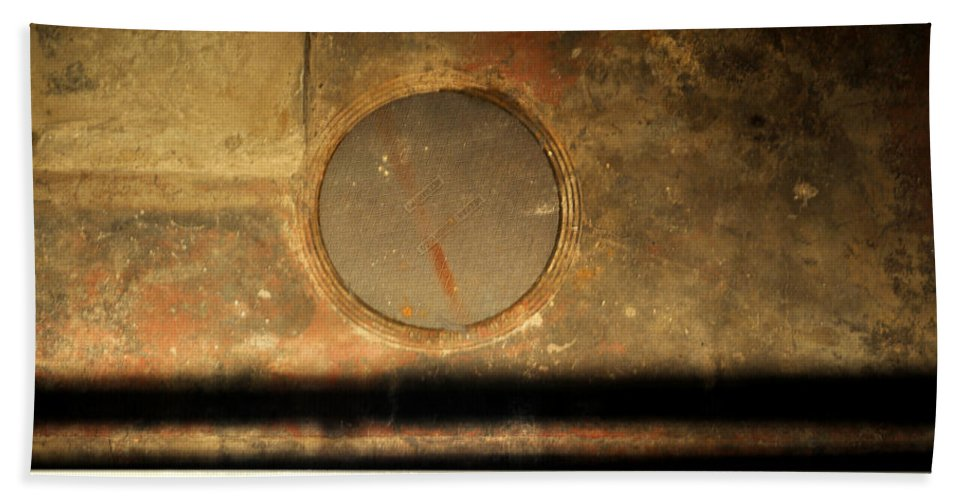 Manhole Beach Towel featuring the photograph Carlton 15 - Square Circle by Tim Nyberg