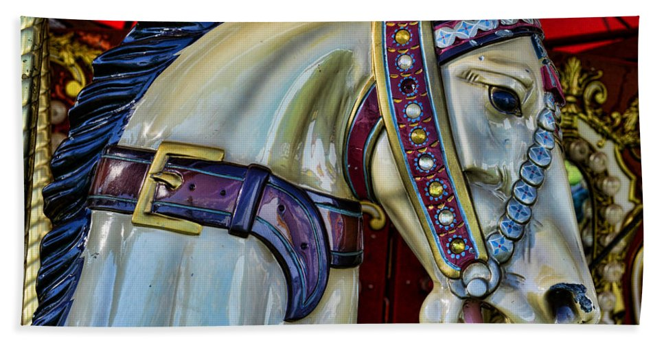 Carousel Beach Towel featuring the photograph Carousel Horse - 7 by Paul Ward