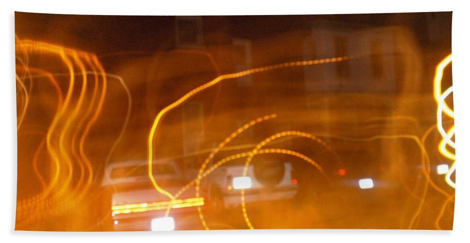 Photograph Beach Towel featuring the photograph Cars On Fire by Thomas Valentine