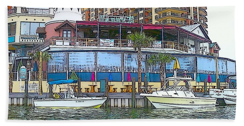 Cartoon Beach Towel featuring the photograph Cartoon Boats by Michelle Powell