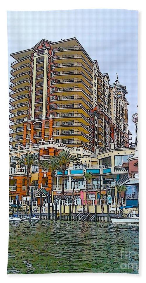 Cartoon Beach Towel featuring the photograph Cartoon Skyscraper by Michelle Powell