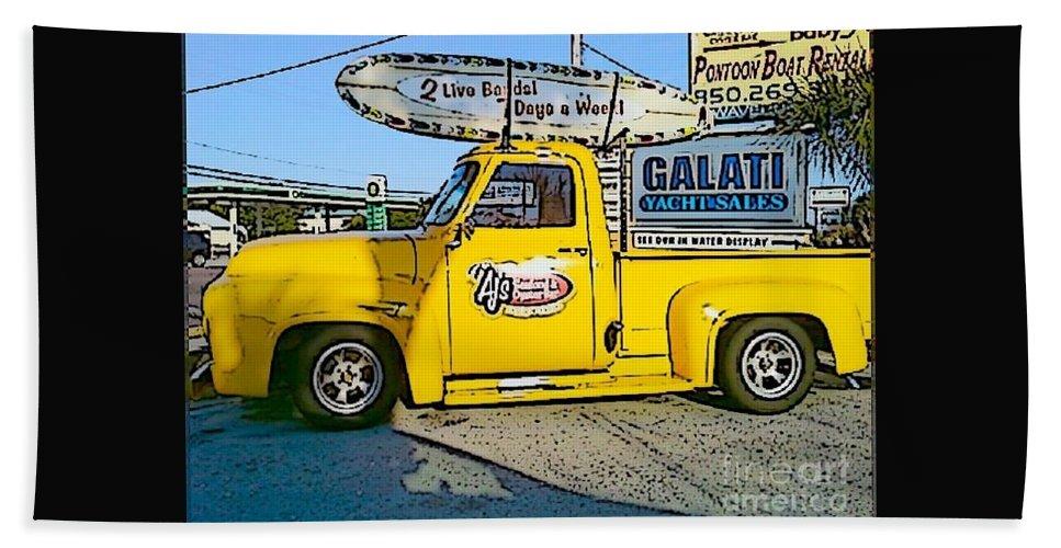 Cartoon Beach Towel featuring the photograph Cartoon Truck by Michelle Powell