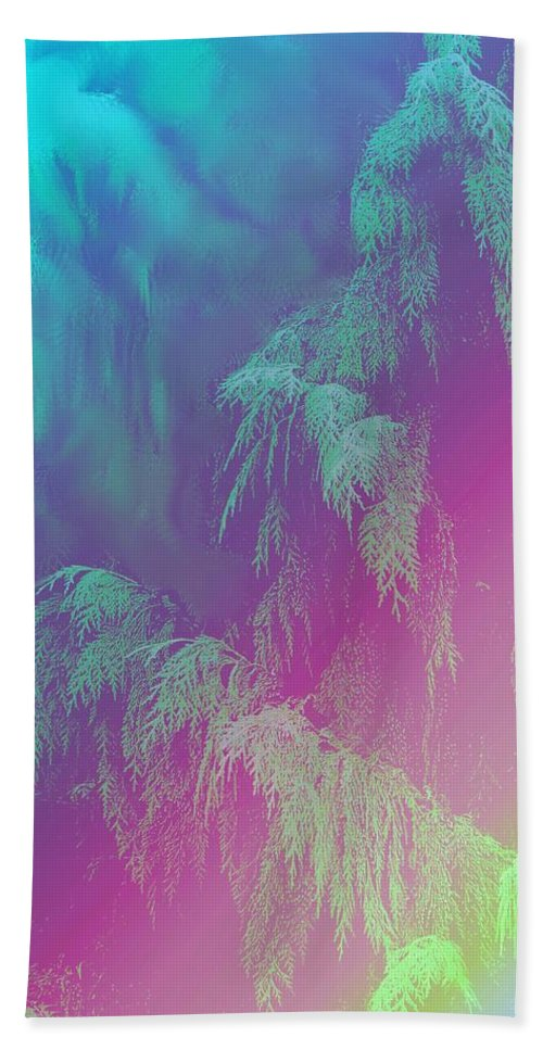 Trees Beach Towel featuring the photograph Cascade by Ian MacDonald