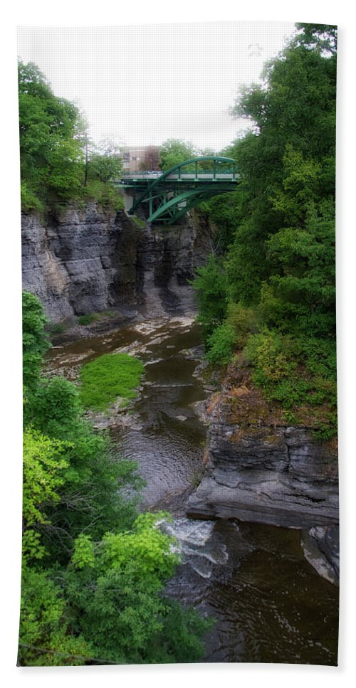 New York Beach Towel featuring the photograph Cascadilla Gorge Cornell University Ithaca New York 01 by Thomas Woolworth