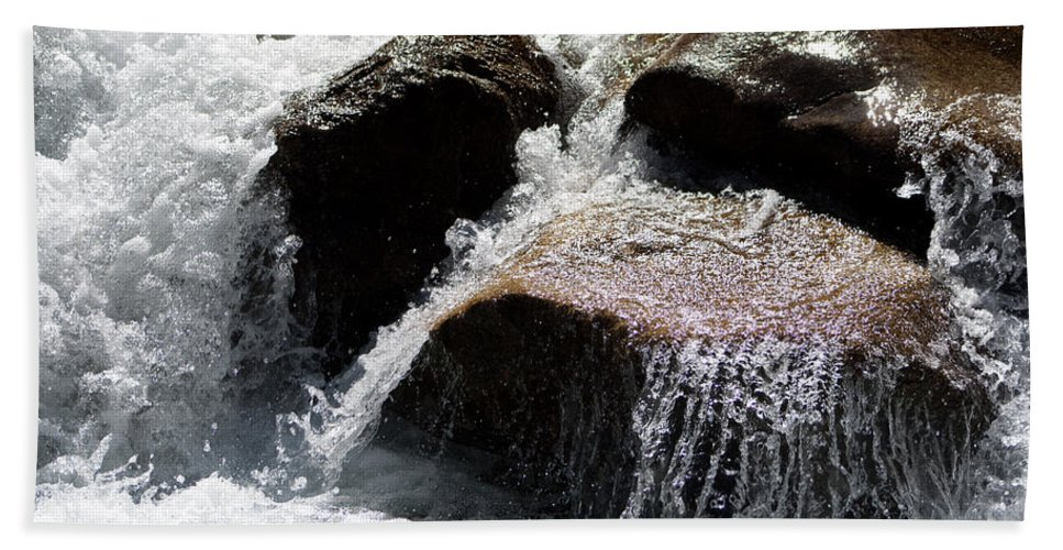 Water Beach Towel featuring the photograph Cascading Waters by Angus Hooper Iii