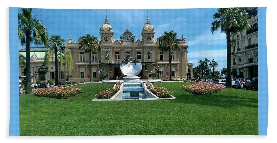 Casino Beach Towel featuring the photograph Casino Of Monaco by Lucas Van Es