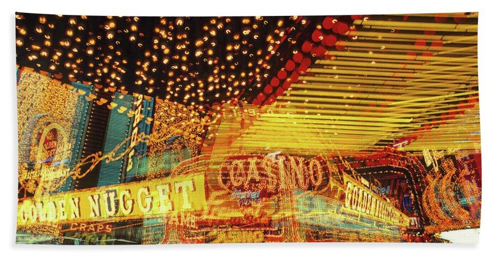 Las Vegas Beach Towel featuring the photograph Casino by Steve Williams