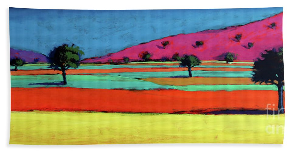 Land Beach Towel featuring the painting Castlemorton V by Paul Powis