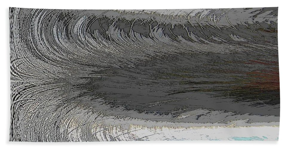 Abstract Beach Towel featuring the digital art Catch The Wave by Tim Allen
