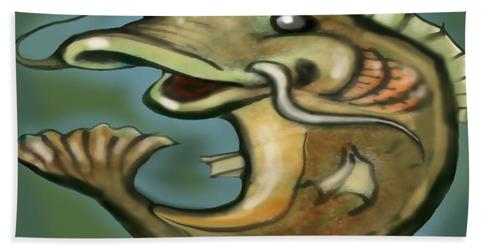 Catfish Beach Towel featuring the digital art Catfish by Kevin Middleton