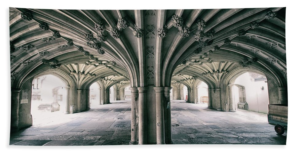 Gothic Beach Towel featuring the photograph Cathedral Arches by Martin Newman