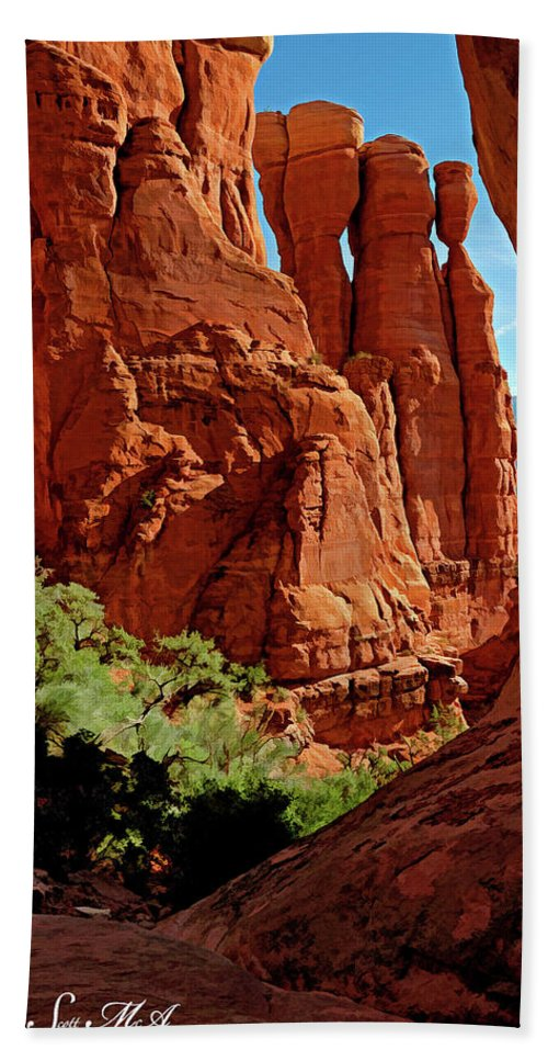 Arizona Beach Towel featuring the photograph Cathedral Rock 06-124 by Scott McAllister