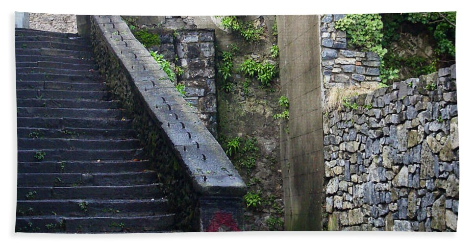 Stairs Beach Sheet featuring the photograph Cathedral Stairs by Tim Nyberg