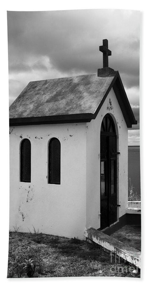 Azores Beach Towel featuring the photograph Catholic Chapel by Gaspar Avila
