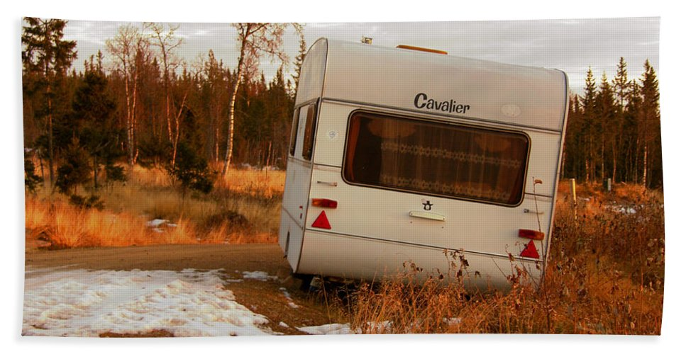 Caravan Beach Towel featuring the photograph Cavalier by Are Lund
