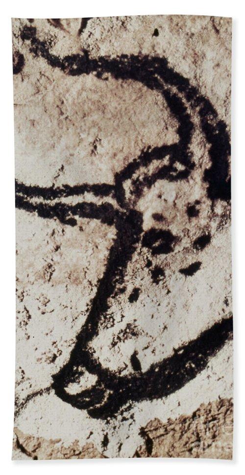 Bull Beach Towel featuring the photograph Cave Art: Lascaux by Granger