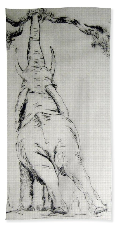 Engraving Beach Towel featuring the mixed media Ce La Posso Fare by Ilaria Andreucci