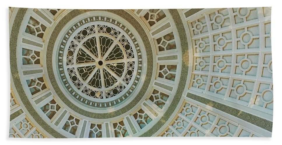 Ceiling Detail Beach Towel featuring the photograph Ceiling Detail by Sandy Taylor