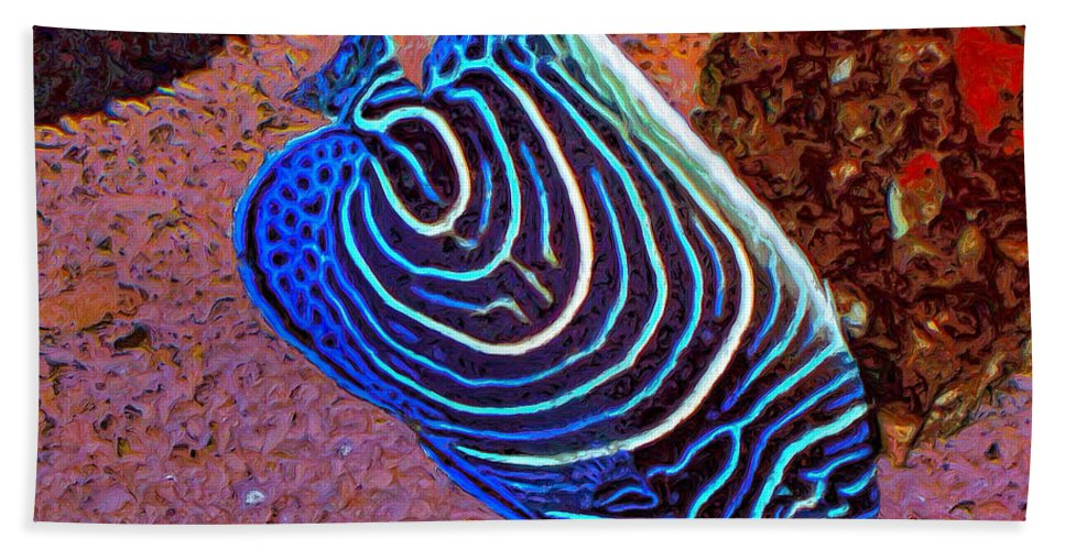 Fish Beach Towel featuring the painting Celeste by Dominic Piperata