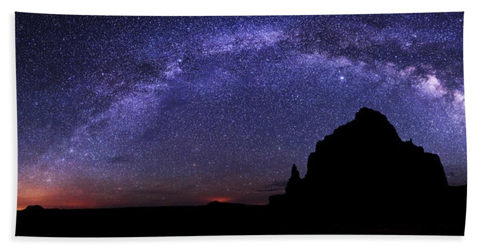 Celestial Arch Beach Towel featuring the photograph Celestial Arch by Chad Dutson