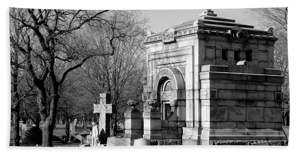 Cemetery Beach Towel featuring the photograph Cemetery 8 by Anita Burgermeister
