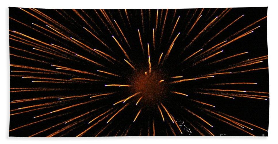 Fireworks Beach Towel featuring the photograph Center Mass by Rick Monyahan