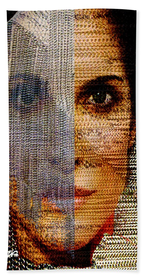 Mysterious Beach Towel featuring the digital art Chained Vixen by Seth Weaver
