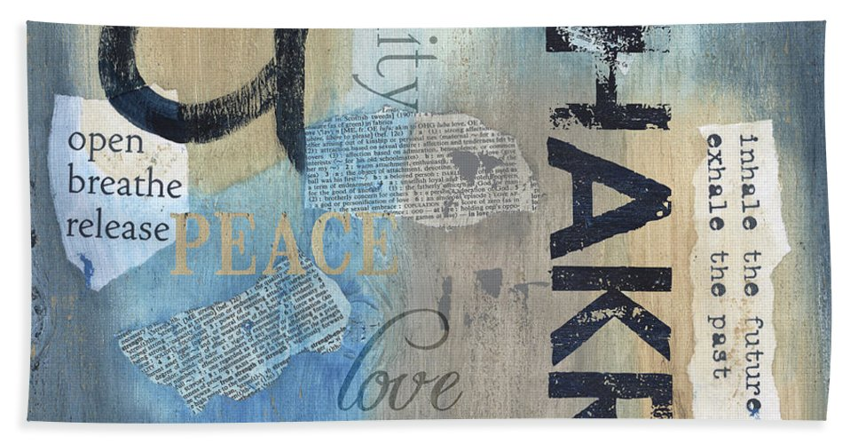 Chakra Beach Towel featuring the painting Chakra by Debbie DeWitt
