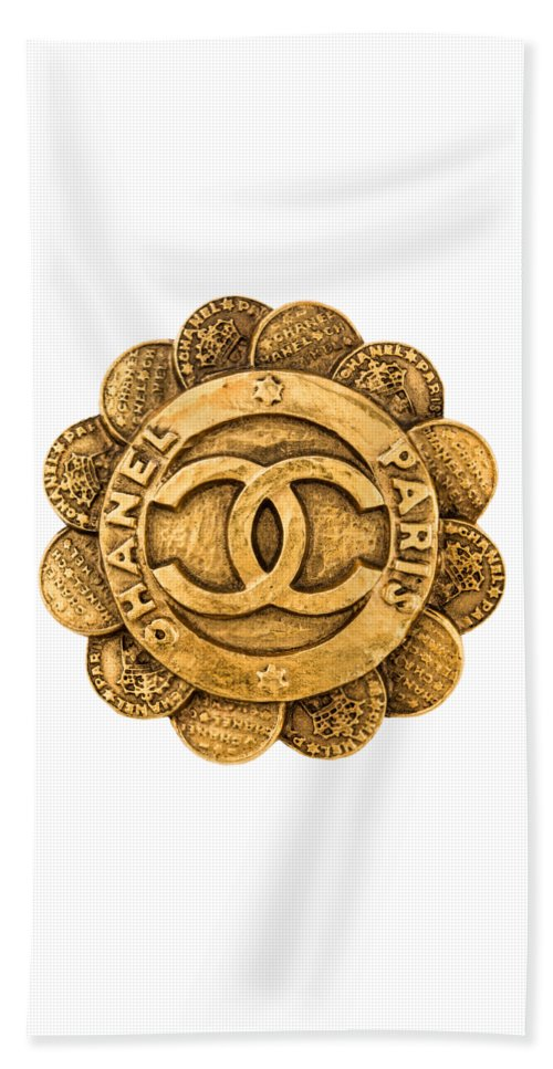 Chanel Beach Towel featuring the painting Chanel Jewelry-2 by Nikita