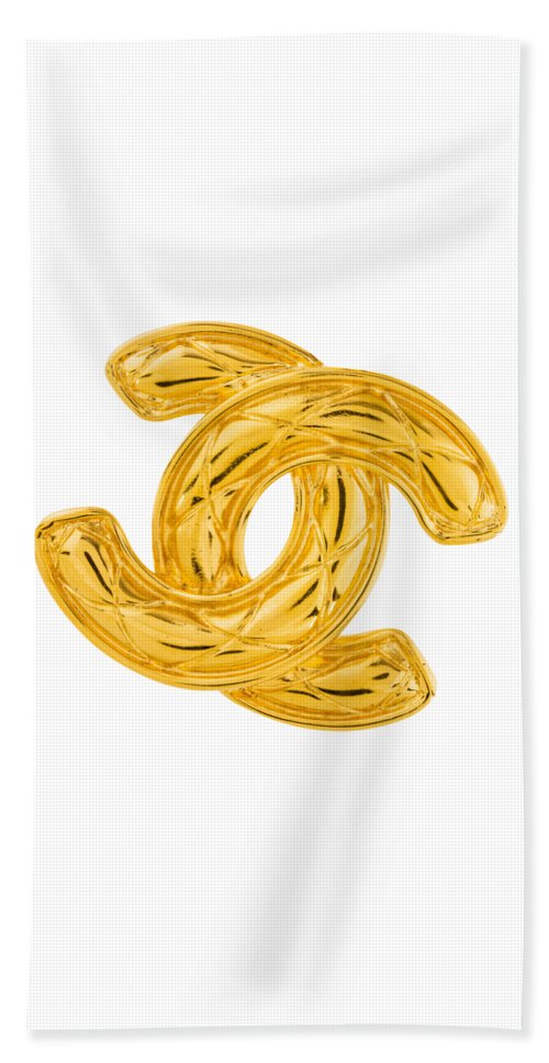 Chanel Beach Towel featuring the painting Chanel Jewelry-4 by Nikita