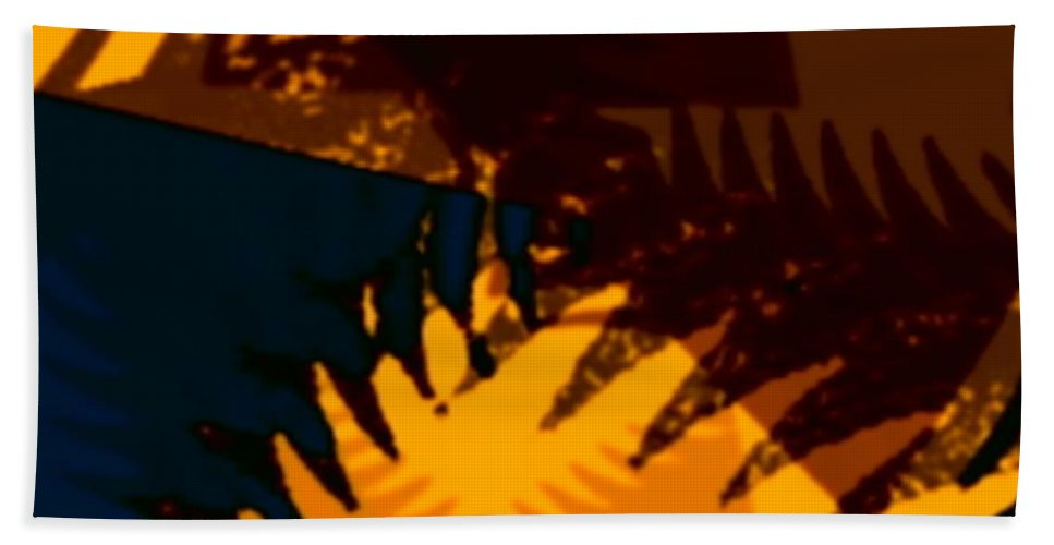 Art Digital Art Beach Towel featuring the digital art Change - Leaf13 by Alex Porter