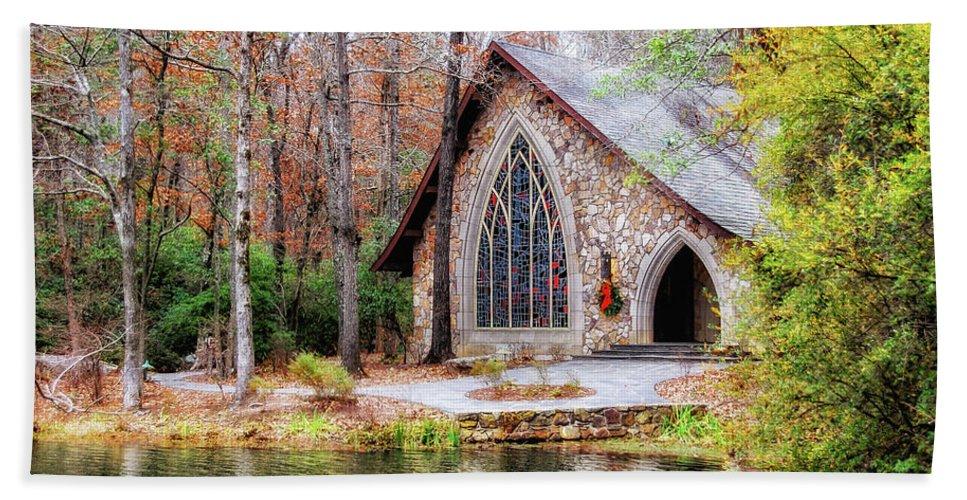 Callaway Gardens Beach Towel featuring the photograph Chapel At Callaway by Randy Clegg