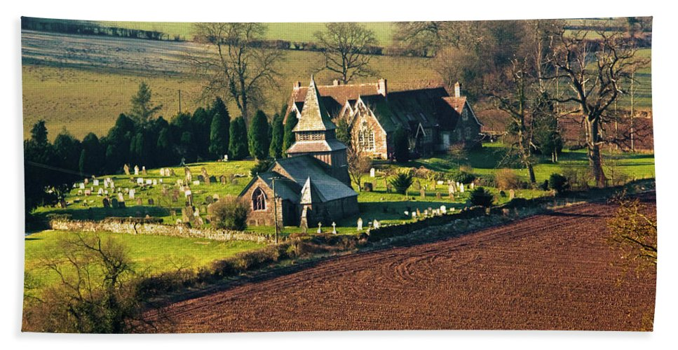 Welsh Chapel Beach Towel featuring the photograph Chapel In The Valley by Brian Roscorla
