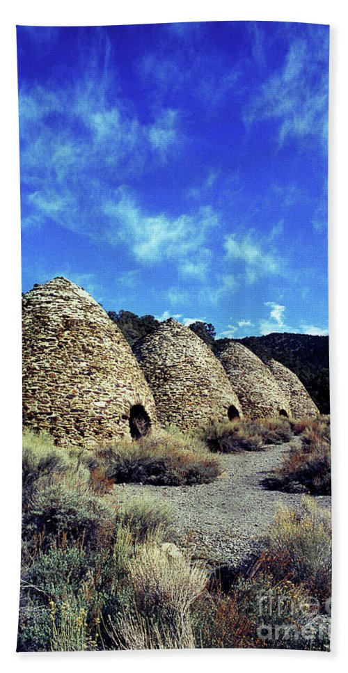 Wild Rose Canyon Beach Towel featuring the photograph Charcoal Kilns by Jim And Emily Bush