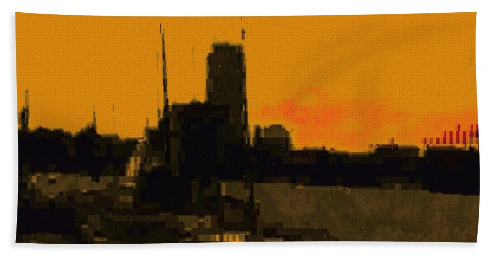 Boston Beach Towel featuring the digital art Charles River 1967 by Cliff Wilson