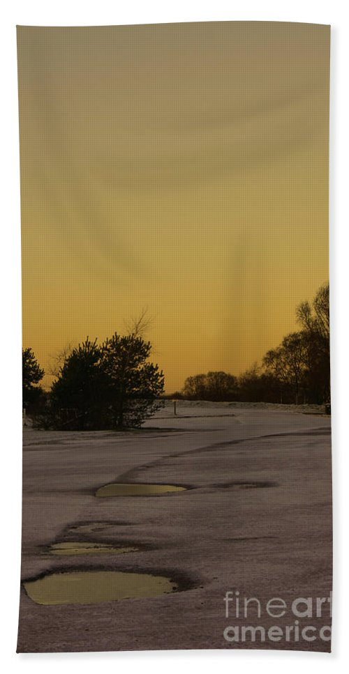 Brownhills Beach Towel featuring the photograph Chasewater Evening by Mickey At Rawshutterbug