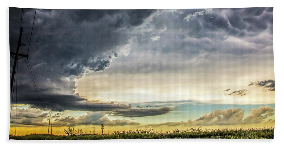 Nebraskasc Beach Towel featuring the photograph Chasing Nebraska Stormscapes 047 by NebraskaSC