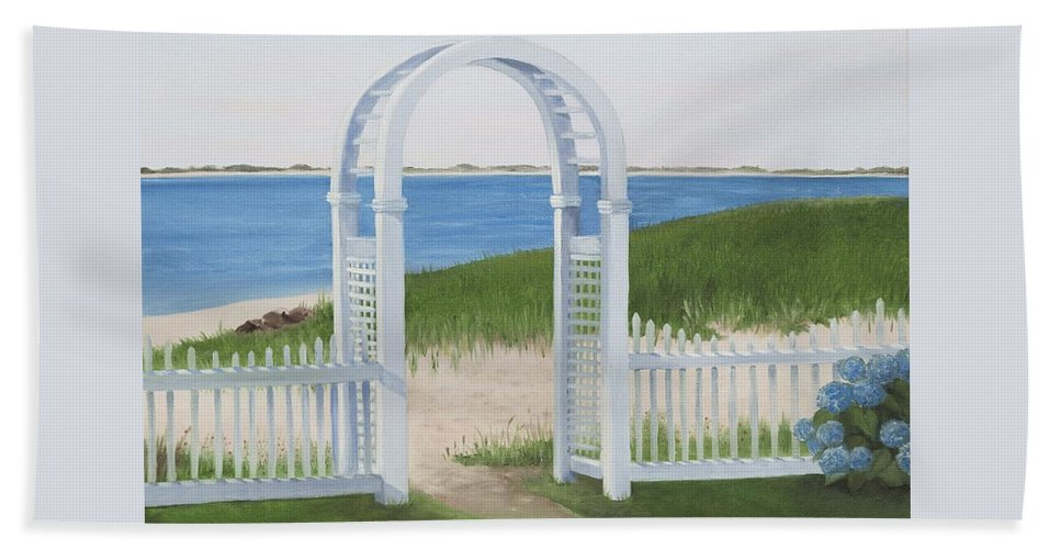 Chatham Beach Towel featuring the painting Chatham Harbor by Lynn Ricci